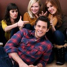 Bachelorette: Kirsten Dunst, Isla Fisher, James Marsden e Lizzy Caplan in una foto promozionale