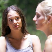 Das Miss Schweiz Massaker: Meryl Valerie in un primo piano tratto dal film