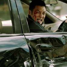 Motorway: Shawn Yue in una scena d'azione del film