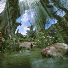 La lussureggiante foresta che circonda Emerald City in Il grande e potente Oz
