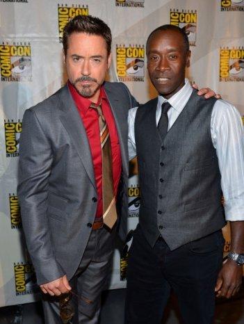 Robert Downey Jr. e Don Cheadle al San Diego Comic Con 2012