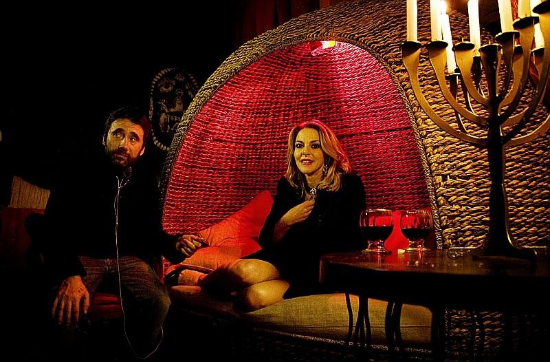 Tulpa Claudia Gerini Insieme Al Suo Compagno Di Vita E Regista Del Film Federico Zampaglione Sul Set 246207