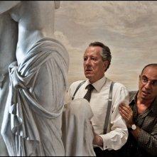 Giuseppe Tornatore con Geoffrey Rush sul set del film La migliore offerta (2013)