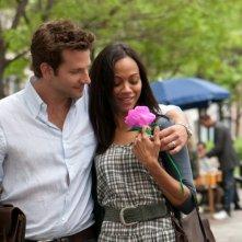 The Words: Bradley Cooper insieme a Zoe Saldana in una scena del film
