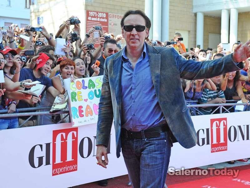 Nicolas Cage sul red carpet del Giffoni Film Festival 2012