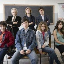 Il rosso e il blu: il cast del film in una foto promozionale
