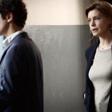 Il rosso e il blu: Margherita Buy e Riccardo Scamarcio in una scena del film