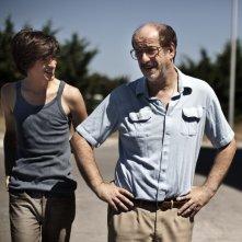 E' stato il figlio: Toni Servillo in una scena del film insieme a Fabrizio Falco