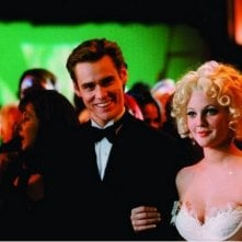 Batman Forever: Drew Barrymore e Jim Carrey in una scena del film
