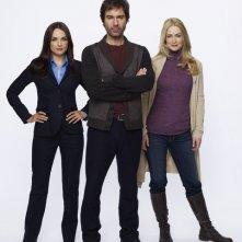 Perception: Eric McCormack, Rachael Leigh Cook e Kelly Rowan in una foto promozionale della serie