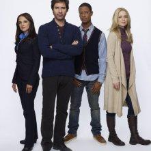 Perception: Rachael Leigh Cook, Eric McCormack, Arjay Smith e Kelly Rowan in una foto promozionale della serie