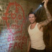 American Horror Story: Adam Levine sul set della seconda stagione.