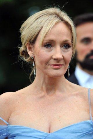 J.K Rowling ad una serata di gala della Fondazione Gorbaciov, nel 2009
