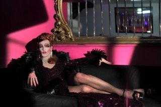 Come non detto: Francesco Montanari in versione drag queen in una scena del film