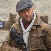 I mercenari 2 : lo sguardo cagnesco di Jason Statham in una scena del film