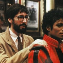 John Landis con Michael Jackson sul set del video di Thriller