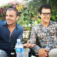 Nicolas Vaporidis e Andrea Bosca sul set di Outing - Fidanzati per sbaglio