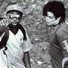 Bad 25: Michael Jackson con il regista Spike Lee sul set del video They don't care about us in una scena del documentario