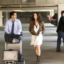 Riz Ahmed insieme a Kate Hudson in una scena di The Reluctant Fundamentalist