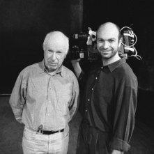 The Tightrope: il regista Simon Brook insieme a suo padre Peter Brook, grande autore di teatro, in una foto promozionale