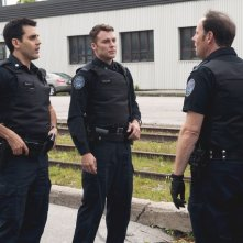 Rookie Blue: Ben Bass, Peter Mooney e Matt Gordon nell'episodio Girls' Night Out