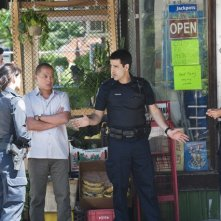 Rookie Blue: Travis Milne, Missy Peregrym, Von Flores, Ben Bass e Gregory Smith nell'episodio A Good Shoot