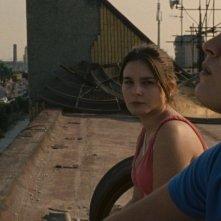 Alessio Gallo e Francesca Riso in una scena de L'intervallo