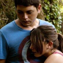 L'intervallo: Alessio Gallo abbraccia Francesca Riso in un'immagine del film
