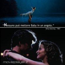 Patrick Swayze e Jennifer Grey in Dirty Dancing - la nostra eCard: condividi sui social le immagini e frasi dei tuoi film e attori preferiti!