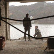 Pietà: lo spietato Lee Jung-jin con una delle sue vittime in una scena del film