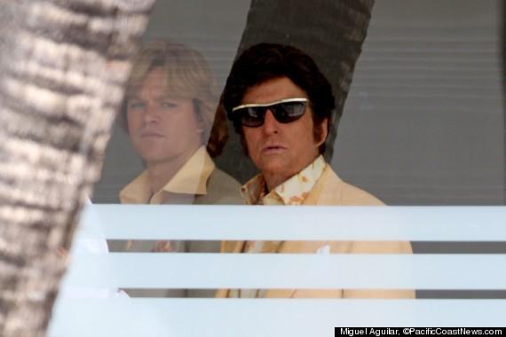 Behind The Candelabra Matt Damon E Michael Douglas Sul Set Del Film Dedicato A Liberace 249485