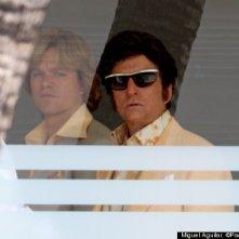 Behind the Candelabra: Matt Damon e Michael Douglas sul set del film dedicato a Liberace