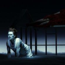 Bob Wilson's Life & Death of Marina Abramovic: Willem Dafoe e Marina Abramovic in una scena del documentario teatrale su Marina Abramovic