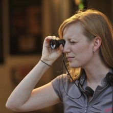 Stories We Tell: la sceneggiatrice e regista del film Sarah Polley sul set