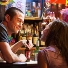 Joseph Gordon-Levitt con Dania Ramirez in Premium Rush