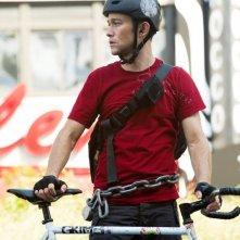 Joseph Gordon-Levitt è un ciclista in Senza freni - Premium Rush