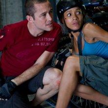 Joseph Gordon-Levitt in Premium Rush con Dania Ramirez