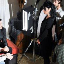 Alida Tarallo sul set de Il mistero di Laura