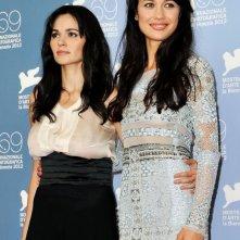 Olga Kurylenko e Romina Mondello presentano To the Wonder a Venezia 2012