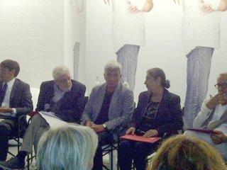 Venezia 2012: Nichi Vendola ed Ettore Scola alla presentazione del Bif&st 2013