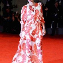 Venezia 2012: Kristin Scott Thomas, attrice di Cherchez Hortense sul red carpet