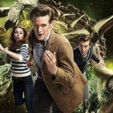 Un'immagine promozionale per l'episodio Dinosaurs on a Spaceship della settima stagione di Doctor Who