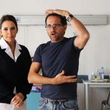 All'ultima spiaggia: Rosalia Porcaro sul set insieme al regista Gianluca Ansanelli
