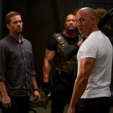 Vin Diesel, Paul Walker e Dwayne Johnson sul set di The Fast and the Furious 6