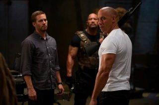 Vin Diesel, Paul Walker e Dwayne Johnson sul set di The Fast and the Furious 6
