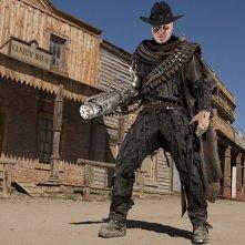 Andrew Brooke in un'immagine promozionale dell'episodio A Town Called Mercy della settima stagione di Doctor Who