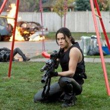 Michelle Rodriguez in Resident Evil: Retribution nei panni di Rain Ocampo