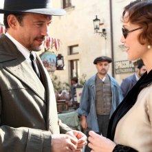 Cesare Mori: il prefetto di ferro: Vincent Perez e Gabriella Pession in una scena della fiction