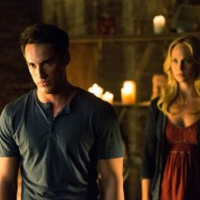 The Vampire Diaries: Michael Trevino e Candice Accola in un momento dell'episodio Growing Pains