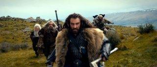 Richard Armitage/Thoris alla guida dei nani in una scena di Lo Hobbit - Un viaggio inaspettato